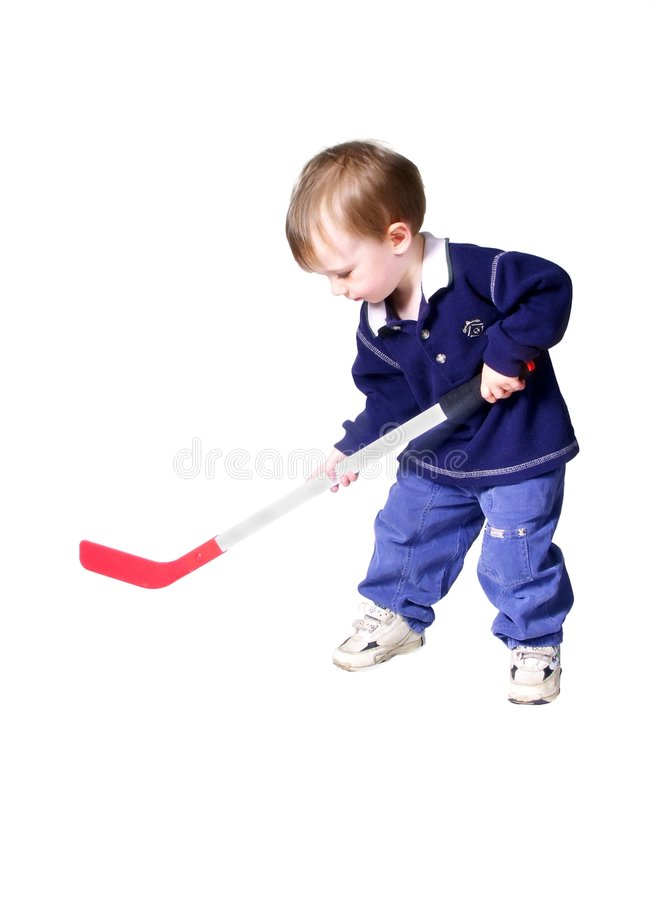Hockey #2. Isolated boy playing hockey