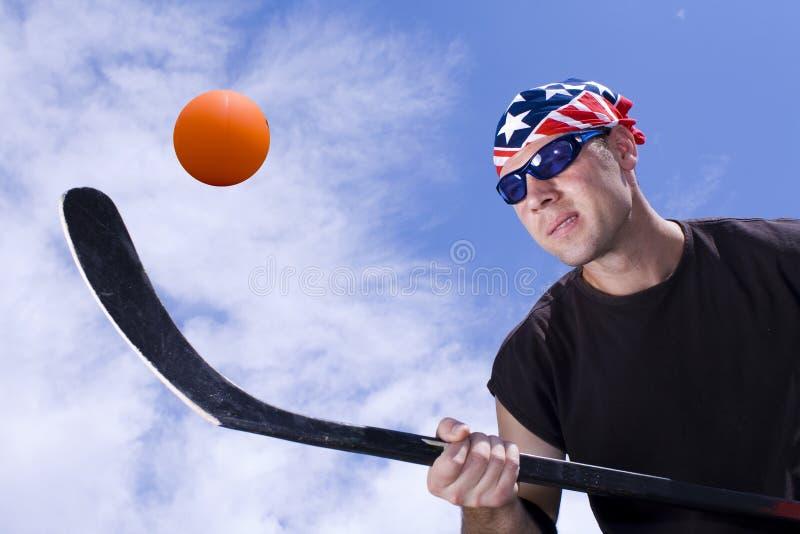 Hockey #6 de la calle imagen de archivo