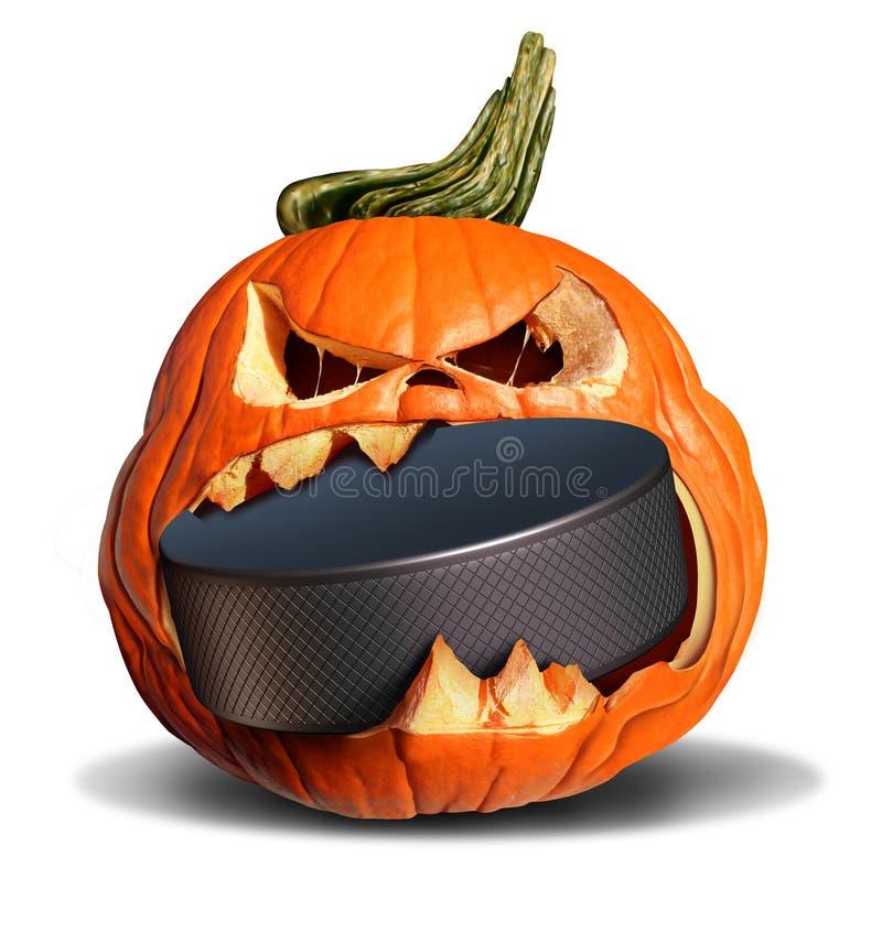 Hockey In Autumn stock illustration