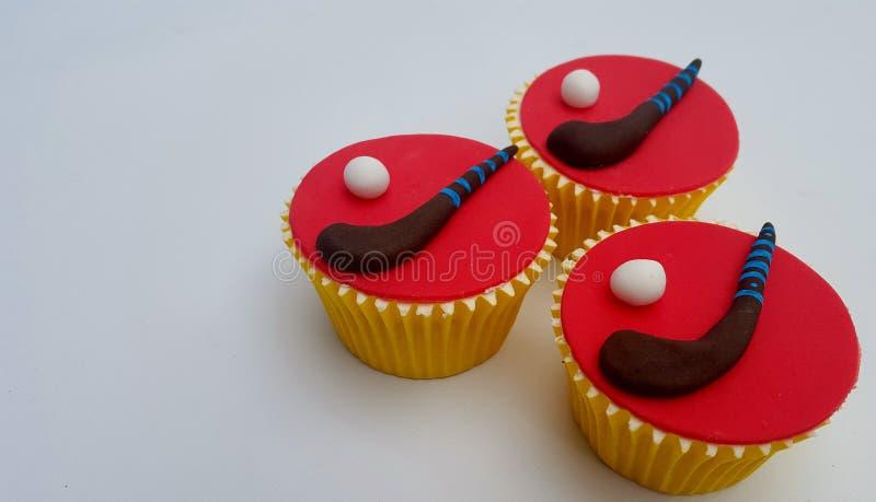 Hockey Cupcakes stock afbeeldingen