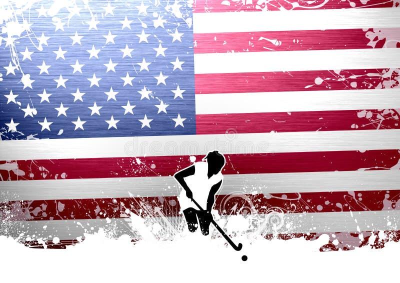 Hockey de campo stock de ilustración