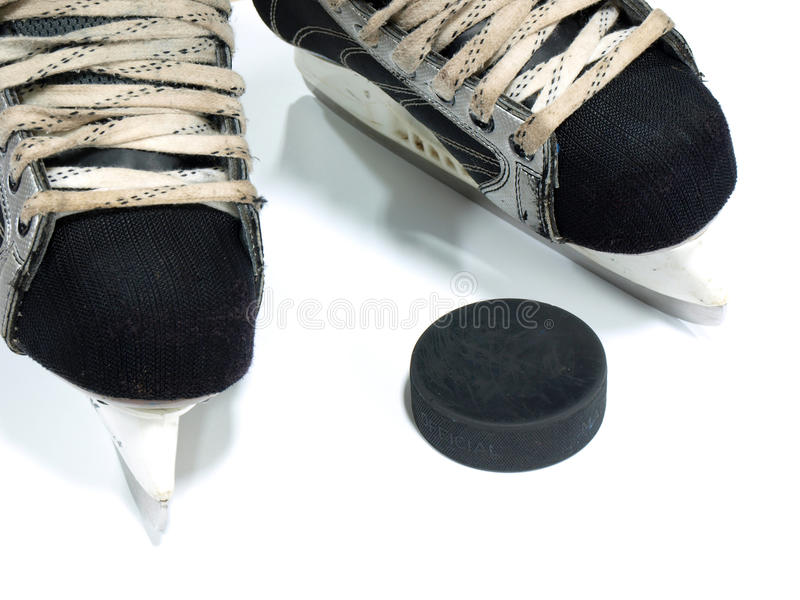Hockey equipment royalty free stock photos