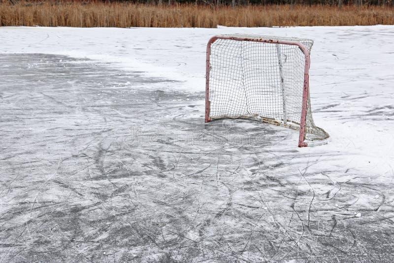 hockey förtjänar utomhus- royaltyfri fotografi