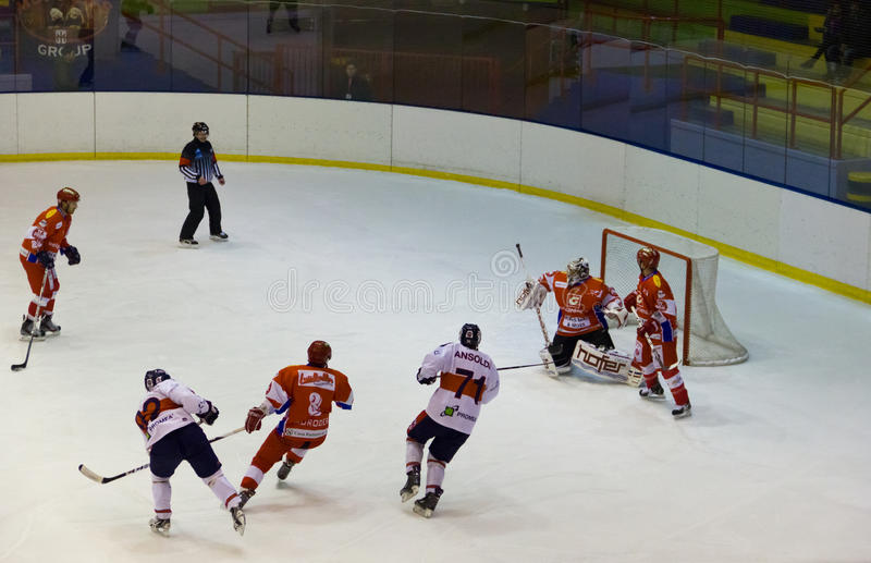 Download Hockey game editorial stock image. Image of athlete, action - 22928614