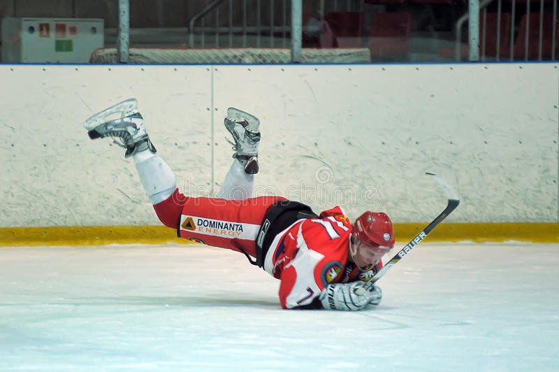 Hockey game. Match to celebrate the Day of the Marine Corps, Russia, St. Petersburg royalty free stock photography