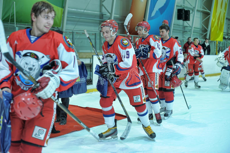 Hockey game royalty free stock images