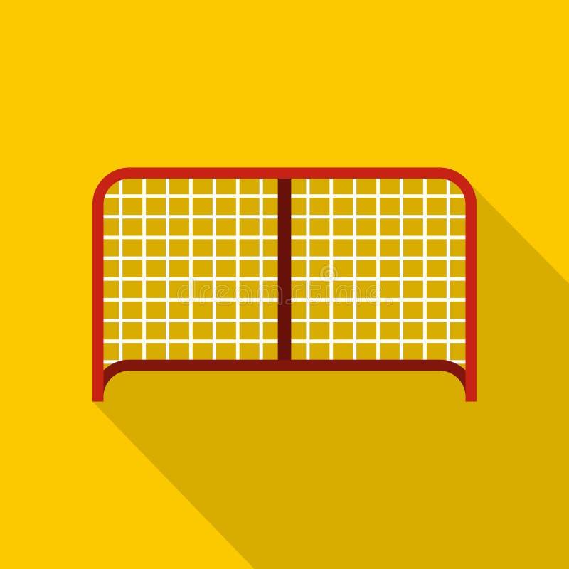 Hockey gate icon, flat style. Hockey gate icon. Flat illustration of hockey gate vector icon for web design royalty free illustration