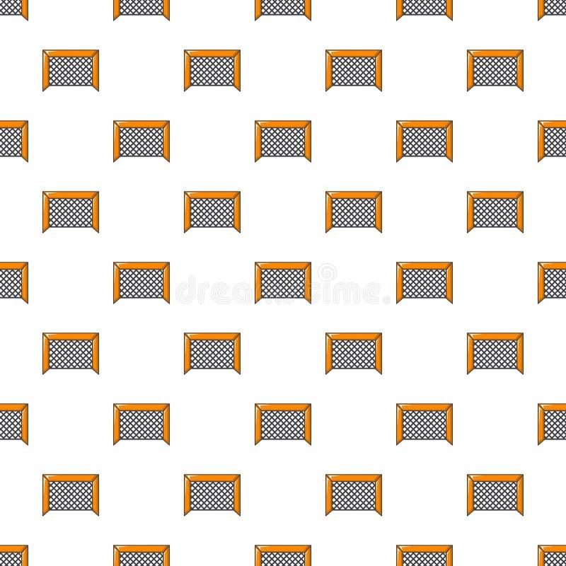 Hockey gate pattern seamless. Hockey gate pattern in cartoon style. Seamless pattern vector illustration stock illustration