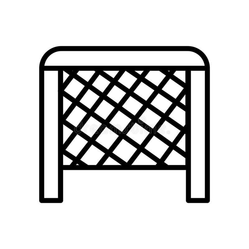 Hockey goal icon vector isolated on white background, Hockey goal sign , linear symbol and stroke design elements in outline style royalty free illustration