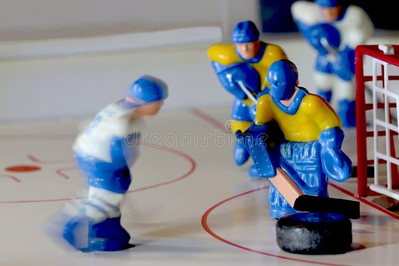 Hockey goalie macro shot royalty free stock images