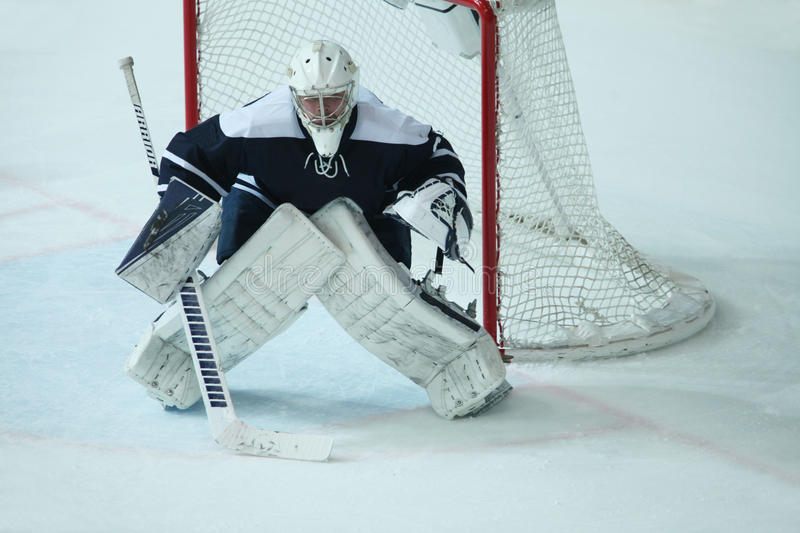 Download Hockey Goalkeeper During A Game Editorial Stock Image - Image: 83709799