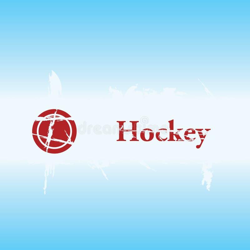Hockey grunge Hintergrund lizenzfreie abbildung