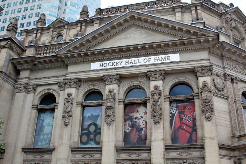 Hockey Hall av berömmelsefasaden i Toronto, Kanada arkivfoto