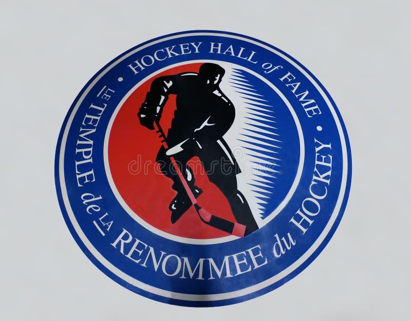 Hockey-Hall of Fame-Zeichen lizenzfreies stockfoto