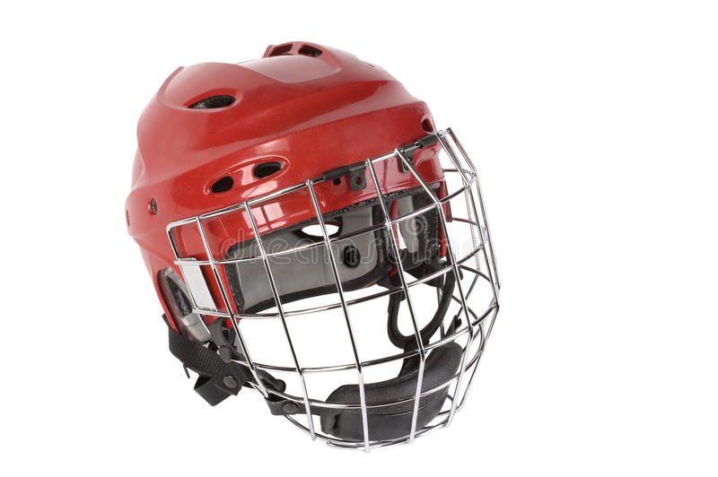 Hockey helmet stock photo
