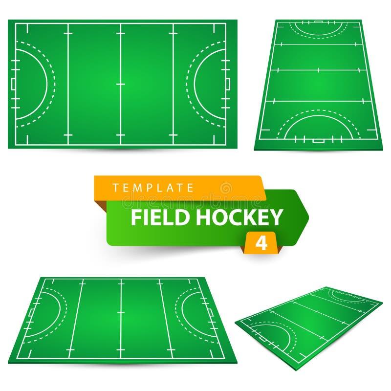 Hockey hierba - plantilla de cuatro artículos libre illustration