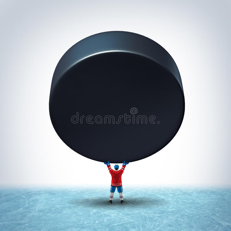 Hockey Ice Champion stock illustration