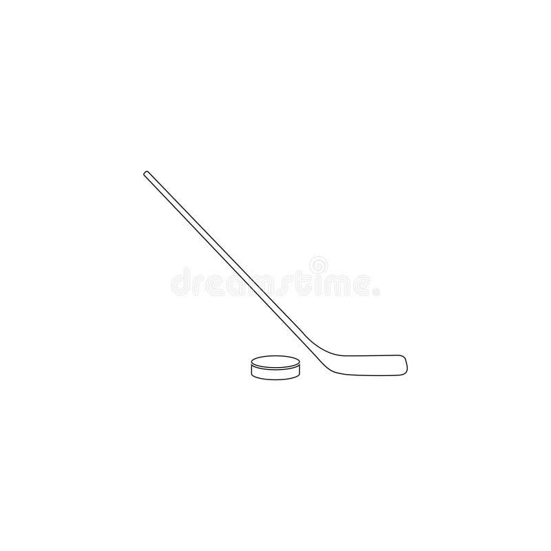 hockey Icono plano del vector ilustración del vector