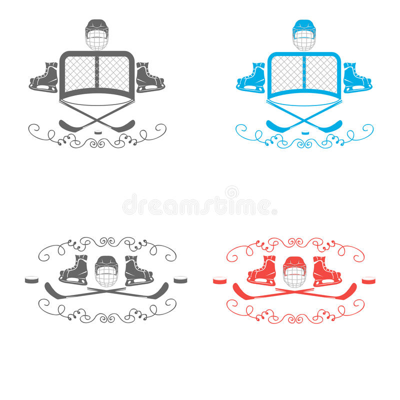 Hockey icons. Logo hockey. Logo for the hockey team. Minimalism. Sport icon. Vector royalty free illustration
