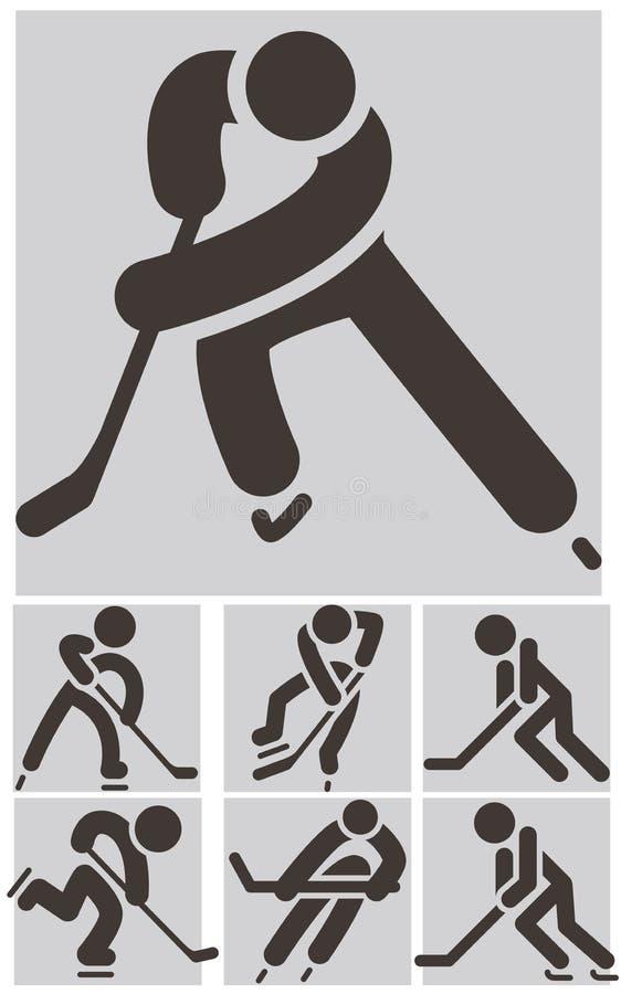 Hockey icons set vector illustration