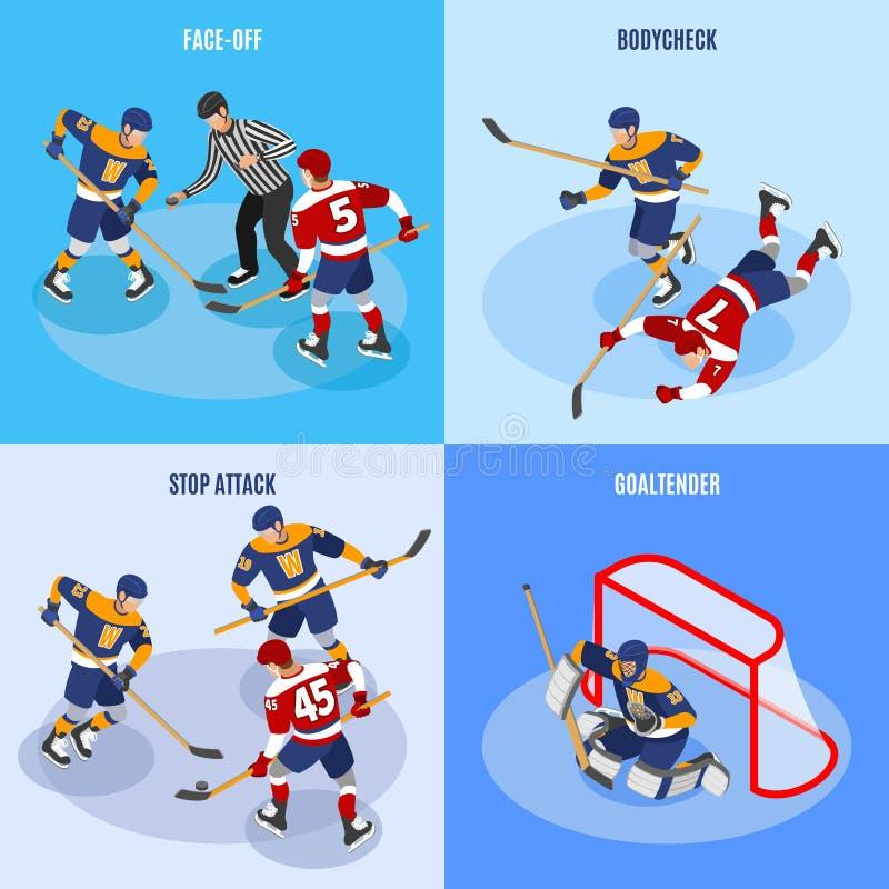 Hockey Isometric Concept stock illustration