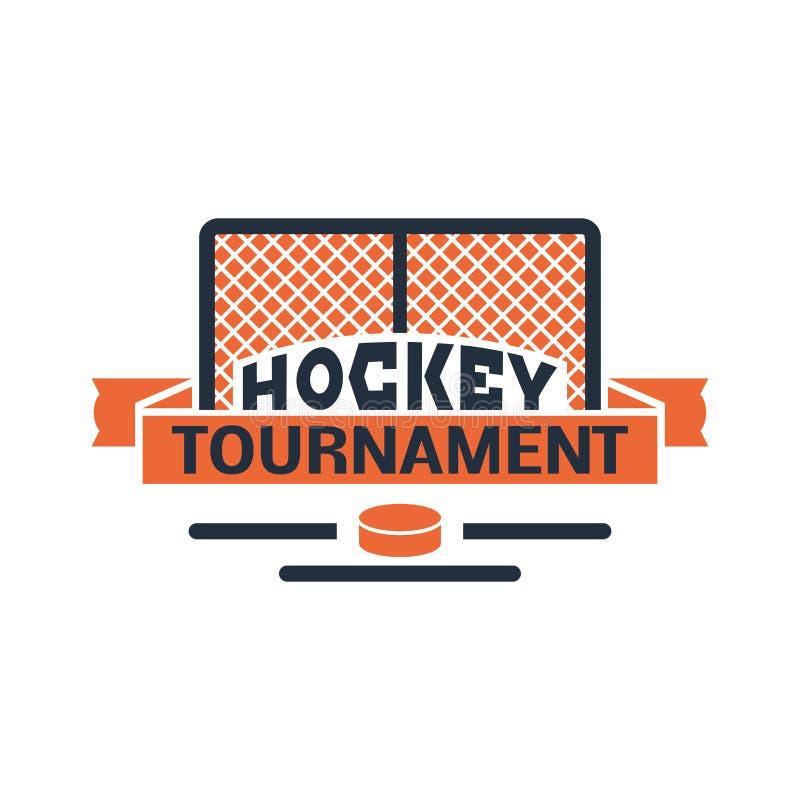 Hockey label vector. vector illustration
