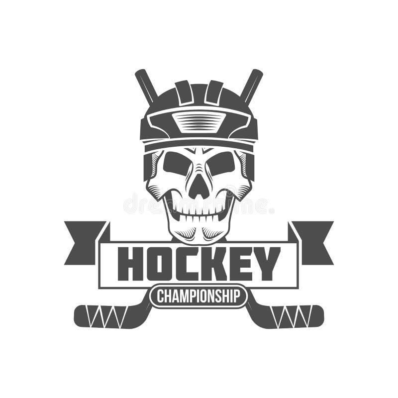 Hockey logo badge design elements royalty free illustration