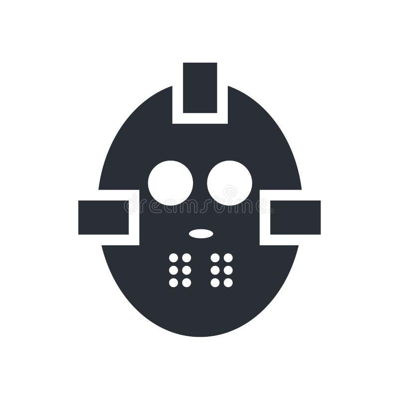 Hockey mask icon vector sign and symbol isolated on white background, Hockey mask logo concept royalty free illustration