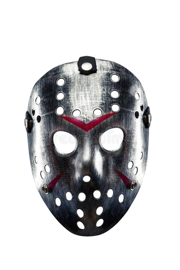 Free Hockey Mask Of Serial Killer Isolated On White Royalty Free Stock Images - 86260359