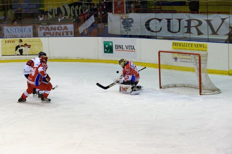 Hockey Milano Rossoblu royalty free stock photo