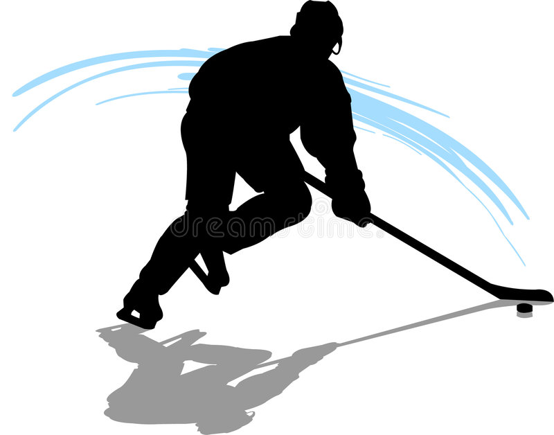 Hockey Player. Illustration of a hockey player