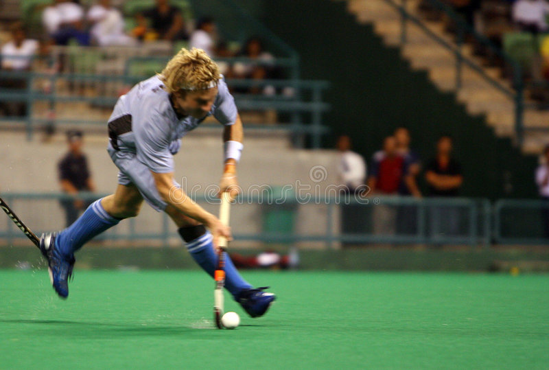 Hockey Player In Action Royalty Free Stock Photos