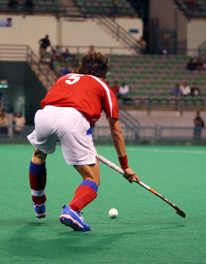 Hockey Player In Action stock image