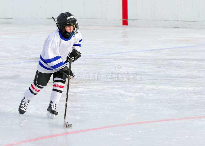 Hockey Player on Ice royalty free stock images