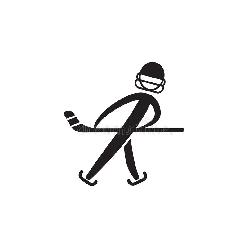 hockey player icon. Element of figures of sportsman icon. Premium quality graphic design icon. Signs, symbols collection icon for stock illustration