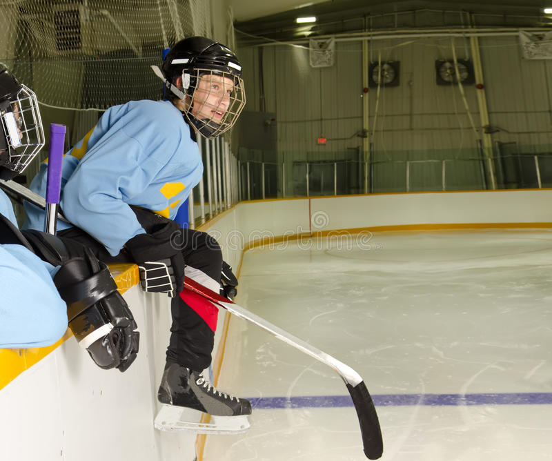 Hockey Player Ready To Play Royalty Free Stock Images