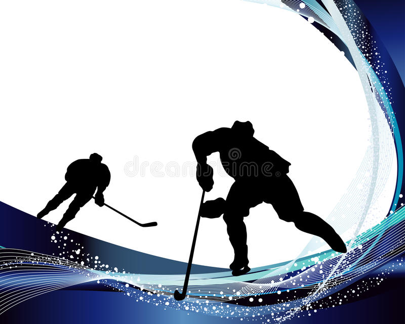 Hockey player silhouette vector illustration