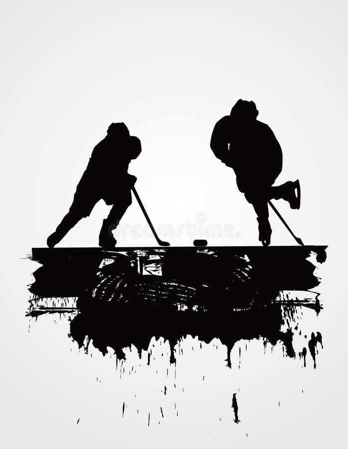 Hockey players stock illustration