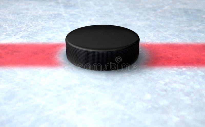 Hockey Puck Centre stock de ilustración