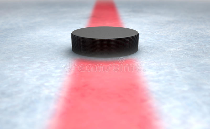 Hockey Puck Centre stock illustrationer