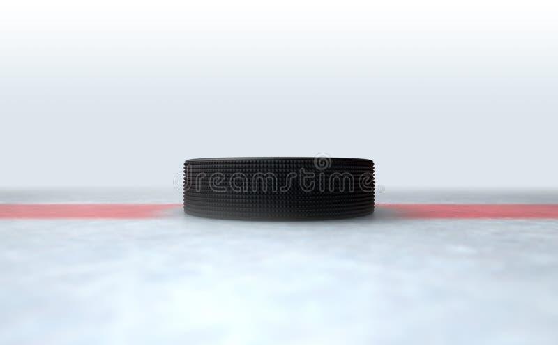 Hockey Puck Centre ilustración del vector