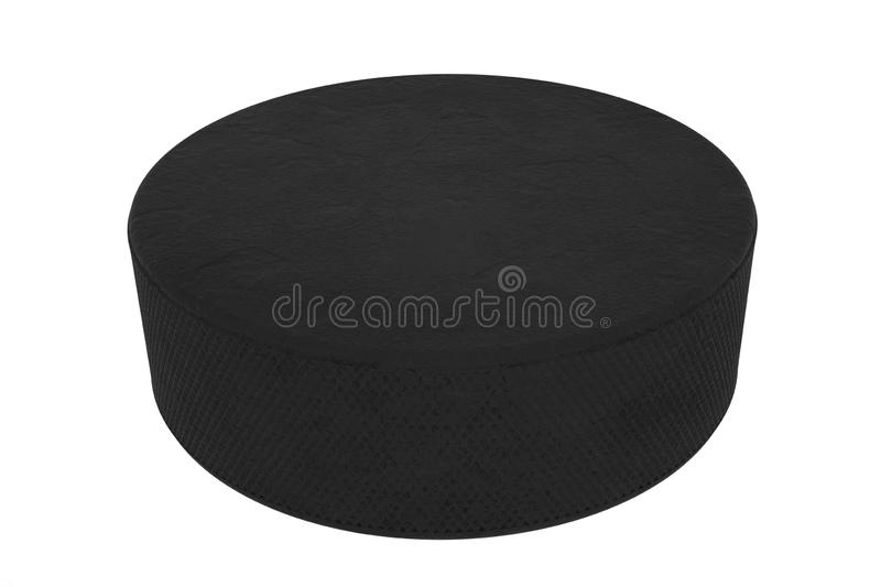 Hockey puck isolated on white background. 3d illustration, high resolution.  stock photos