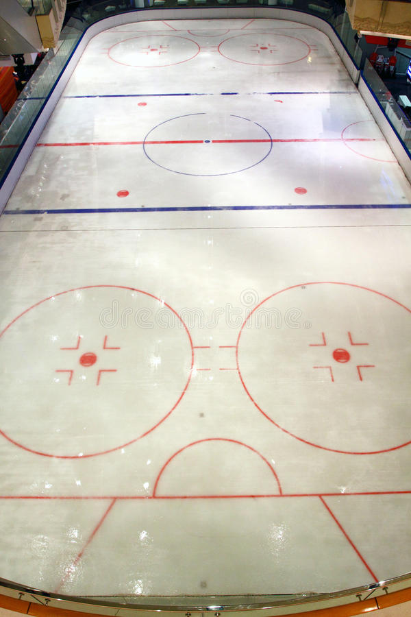 Hockey Rink. In Shopping Mall, Hong Kong royalty free stock photo