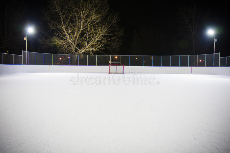 Hockey rink net royalty free stock photos