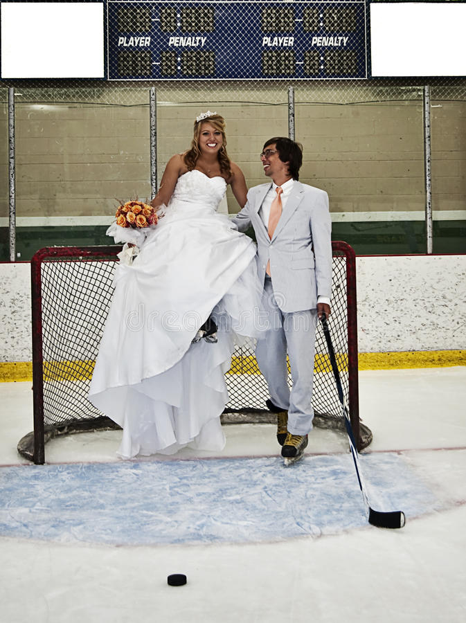Hockey Romance photographie stock