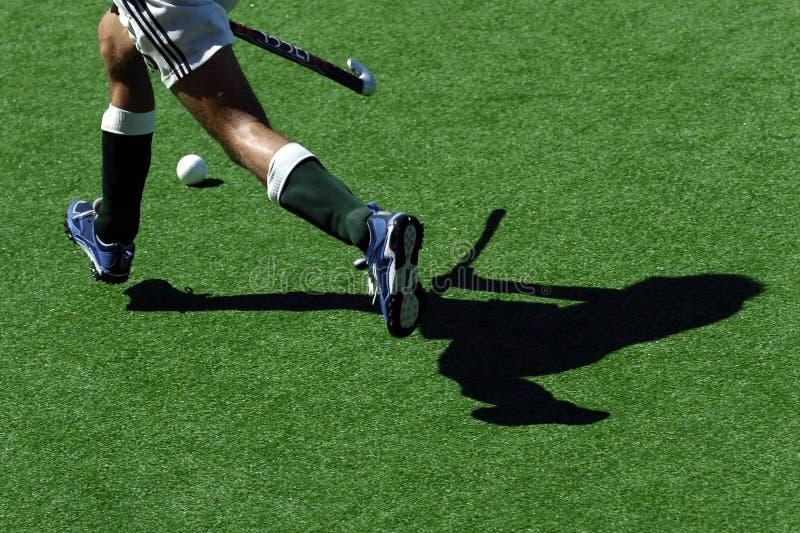 Hockey Shadows Stock Image