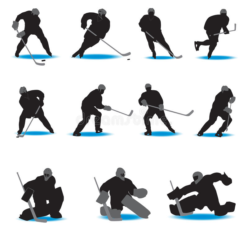 Download Hockey Silhouettes stock vector. Illustration of body - 19536905