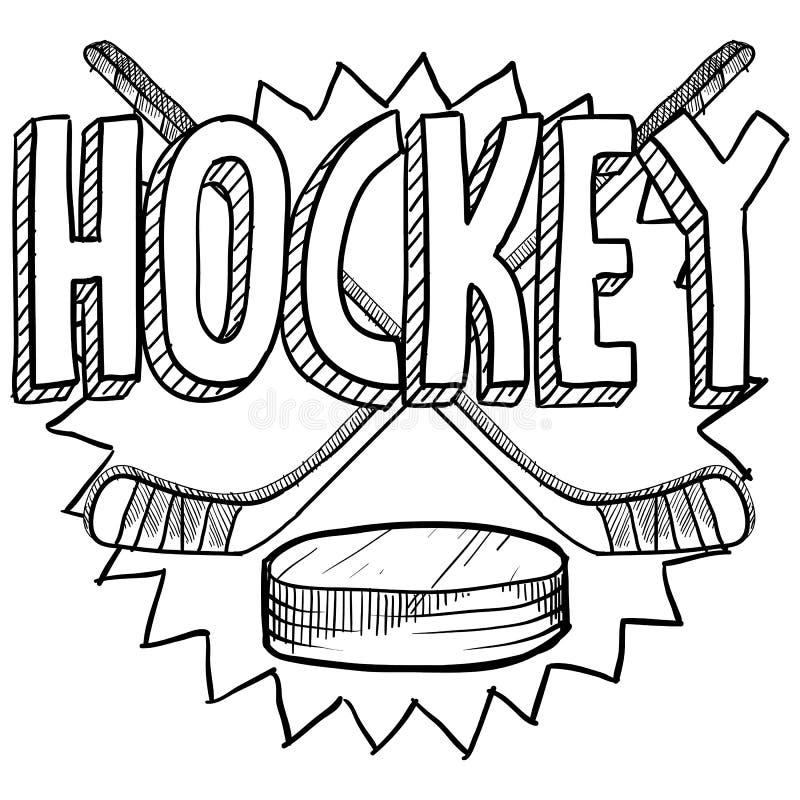 Hockey skissar stock illustrationer