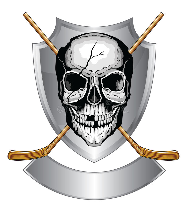 Download Hockey Skull With Sticks stock vector. Image of shield - 28488340