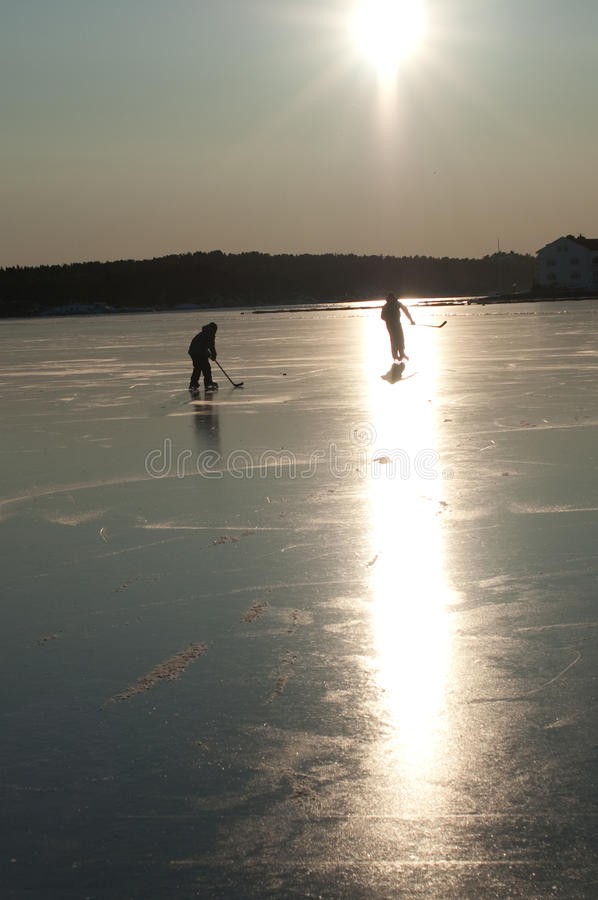 Hockey sobre hielo fotos de archivo libres de regalías